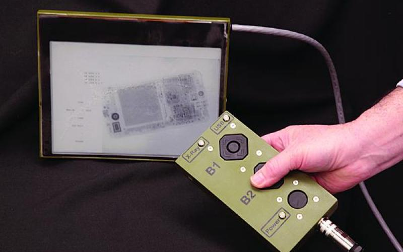 A flexible digital x-ray imaging array uses E Ink, similar to display technology found in an Amazon Kindle.  The x-ray display prototype was developed by the Flexible Display Center, the Defense Threat Reduction Center (DTRA), and the Palo Alto Research Center (PARC).